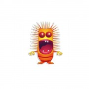 Monster harig muursticker