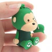 Green Monkey - Cute regalo dei bambini per adulti per Lei Lui 8GB di memoria della penna del bastone Flash Drive Ciplak® divertente