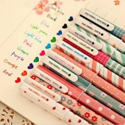 10 pcs/lot New Cute Cartoon Colorful Gel Pen Set Kawaii Korean Stationery Creative Gift School Supplies