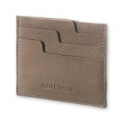 Moleskine Lineage Leather Card Wallet Taupe