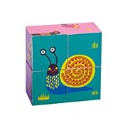 Oops Colourful 4-Cute Animals from the Oops Forest Wooden Stacking Blocks