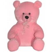 softeez pink teddy bear with tie 1.5 ft