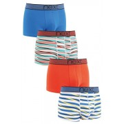 Mens Next Sport Stripe Hipsters Four Pack - Blue/Red