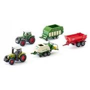 Siku Super 6286 - Set de regalo, 5 vehículos agrícolas en miniatura (escala 1:64)