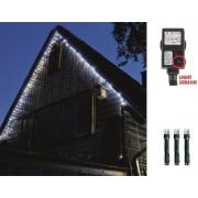 Fényfüzér kültérre 100 db hideg fehér LED alkonykapcsolóval, 8 programmal, 7 m, KTL 108 WH