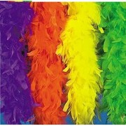 Neon Green Feather Boa (6 Pcs) - Bulk [Toy]