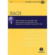 Violin Concerto in a Minor Violin Concerto in E Major Concerto for Two Violins in D Minor by Richard Clarke