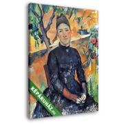 Paul Cézanne: Portré Cézanne asszonyságról az üvegházban (20x25 cm, Vászonkép )