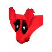 Vtipná tanga se zvířátkem UNI červená