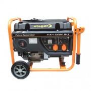 Generator de curent monofazat Stager GG 6300W, 5.5 kW, motor 4 timpi, benzina