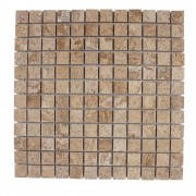 Mozaic Travertin Latte Polisat 2.3 x 2.3 cm