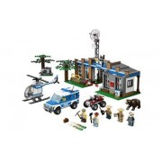LEGO? CITY? Forest Police Station w/ Helicopter & 5 Minifigures | 4440 by Lego City Forest Police Station - 4440