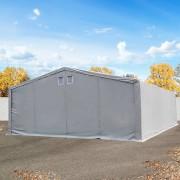 Intent24 Hangar 8x8m, porte 6x4,25m, toile PVC de 720 g/m², anti-feu, gris