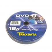 DVD-R 16X Traxdata (by Ritek) Bobina 10 uds