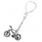 Llavero plata Ley 925m bicicleta articulada manillar [1369]