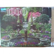 Guild 1000 Piece Jigsaw Puzzle Fountain And Garden In Bloom
