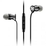Sennheiser M2 IEI Momentum In-Ear Headphones (Black/Chrome) for Apple iPhone and iPad