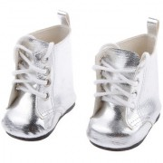 Magideal Silver Lace Up Pu Martin Boots Shoes For 18Inch American Girls Dolls