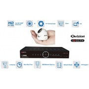 Kamerový systém mikro AHD 1x kamera 1080P s 15m IR a DVR