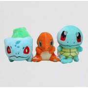 Pokemon Bulbasaur Charmander Squirtle 3pcs/Set Soft Plush Figure Toy Anime Stuffed Animal 4 Inch Child Gift Doll