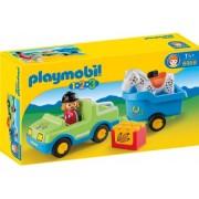 Playmobil Masina cu remorca si cal (6958)