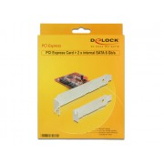 DeLock PCI Express Card > 2x internal SATA 6 Gb/s 89270