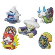 Set Of 5: Yo Kai Watch Medal Moments Wave 1 Jibanyan, Whisper, Komasan, Noko & Tattletell