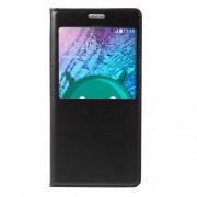 Husa Flip Cu Fereastra Samsung Galaxy J5 SM-J500F Neagra