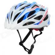 MOON MV37 Outdoor Cycling Bike Helmet - White + Light Blue