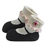Jazzy Toes Rayon Collection Mary Janes Sock Set - Black-12-24M