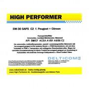 High Performer 5W-30 SAPS C2 Peugeot+Citroen 1 Litre Can