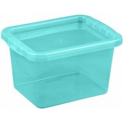 Cutie depozitare cu capac 8 litri albastru deschis