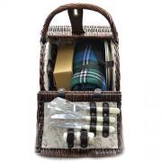 Cos pentru picnic din ratan pentru 2 persoane