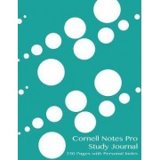 Cornell Notes Pro Study Journal 250 Pages with Personal Index by Spicy Journals