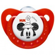NUK Trendline Mickey Mouse Silicone Soother 2 pack - Size 1 (0 - 6 months)