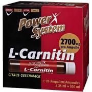 Power System L-Carnithin Ampullen Citrus Geschmack 20x 25 ml