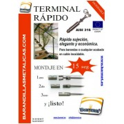 Tensor terminal Rapid para cable de inoxidable Sistema Expert