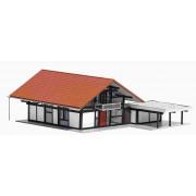 Busch modern woonhuis met carport 1446