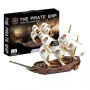"Philomel® 3D Puzzle The Pirate Ship Ravensburger Jigsaw Puzzles, 59 PCS, 20.9"" x 4.9"" x 14.6"""