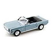 "Motormax GOTZMM73212MB 1:24 Scale Metallic Blue ""1964 1/2 Ford Mustang Convertible"" Die Cast Model Car"