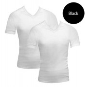 [2 Pack] Bonds V-Neck Raglan Short Sleeved T Shirt Black 39762W