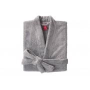 BLANC CERISE Peignoir col kimono - coton peigné 450 g/m² gris