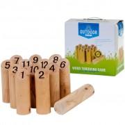 OUTDOOR PLAY Vonkajšia hra s číslami Kubb (Mölkky)