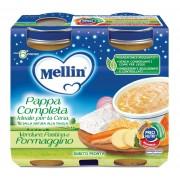 Mellin Babycena - Pappa Completa Pastina Verdure Formaggino - Confezione da 400 g ℮ (2 vasetti x 200g)