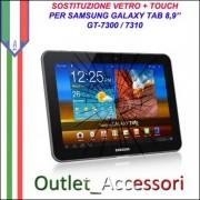 Riparazione Sostituzione Cambio Vetro Touch Touchscreen Rotto per Samsung Galaxy Tab 2 P7300 P7310