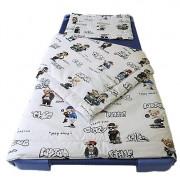 100% pamut 3 részes ágynemű garnitúra, 140x200 cm-es paplanhuzattal - lila virágos