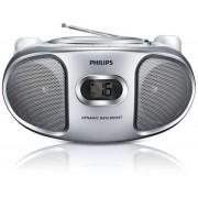 Micro Sistem Philips AZ105S, CD Player, Radio FM (Argintiu)