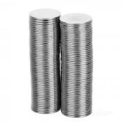 FandyFire 15mm x 1mm Nickel Plated NdFeB Magnet (100PCS)