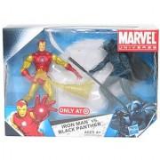 Marvel Universe 3 3/4 Inch Exclusive Action Figure 2Pack Iron Man Vs. Black P...