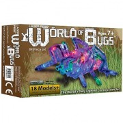 Light Up Building Construction Set - Laser Pegs - World of Bugs Deluxe Set (84 Lighted Pieces)